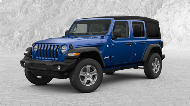 New 2018 Jeep Wrangler Unlimited Sport JL. Lease For